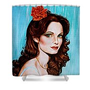 Flower In Her Hair Shower Curtain