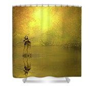 A Silent Autumn Morning Shower Curtain
