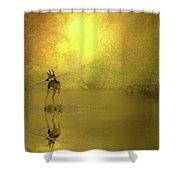 A Silent Autumn Morning Shower Curtain