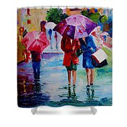Who Loves Shopping Shower Curtain