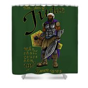 Who Shall Rouse Judah-yellow Trim Shower Curtain