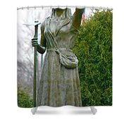 Who Sows Believes In God  Shower Curtain