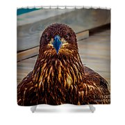 Who You Looking At? Shower Curtain