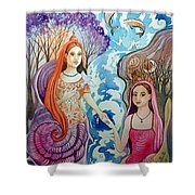 Wholeness Shower Curtain
