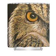 Whooo Goes There Shower Curtain