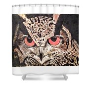 Whoot Owl Shower Curtain