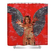 Whore Of Babylon By Mb Shower Curtain