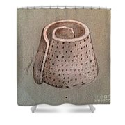 Whorl - Shell With Polka Dot Pattern - Sketch Shower Curtain