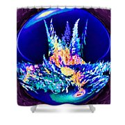 Whorled World Chaos Shower Curtain