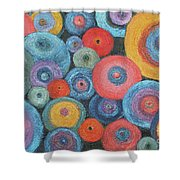 Who's Got The Button? Shower Curtain