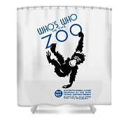 Who's Who In The Zoo - Wpa Shower Curtain