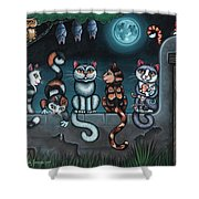 Whos Your Daddy Cat Painting Shower Curtain