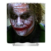Why So Serious Shower Curtain by Paul Tagliamonte