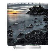 Whyte Islet Shower Curtain