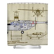Wi Ang Skymaster Profile Shower Curtain