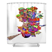 Martin-hardy-witches Shower Curtain