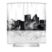 Wichita Kansas  Skyline Shower Curtain