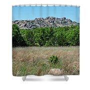 Wichita Mountains Wildlife Refuge - Oklahoma Shower Curtain