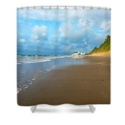 Wide Beach And Nature Shower Curtain
