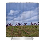 Wide Brown Land - Canberra - Australia Shower Curtain
