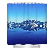 Wide Crater Lake Shower Curtain
