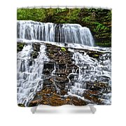 Wide Flowing Falls Shower Curtain