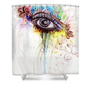 Wide Open Shower Curtain