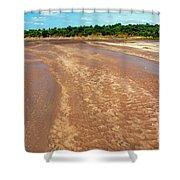 Wide Thwake River Shower Curtain