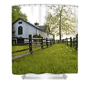 Widener Farms Horse Stable Shower Curtain