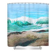 Widescreen Wave Shower Curtain