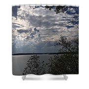 View Across Wappapello Lake Shower Curtain