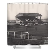 Wigan Athletic - Springfield Park - Main Stand 1 - Bw - 1969 Shower Curtain