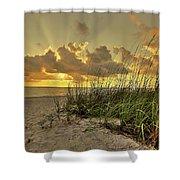 Wiggins Pass Sunset Shower Curtain