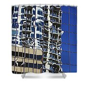 Wiggly Balconies Shower Curtain