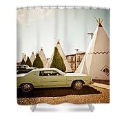 Wigwam Motel Classic Car #4 Shower Curtain