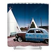 Wigwam Motel Classic Car #7 Shower Curtain