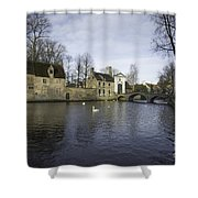Wijngaardplein Bruges Shower Curtain