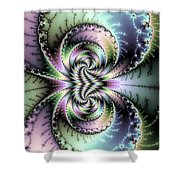 Wild And Crazy Fractal Art Vertical Shower Curtain