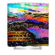 Wild And Crazy Mountainous Sunset Shower Curtain