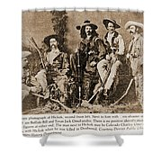 Wild Bill Hickok, Buffalo Bill Shower Curtain