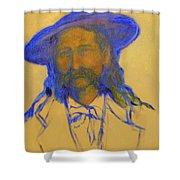 Wild Bill Hickok Shower Curtain by Johanna Elik