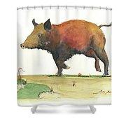 Wild Boar Delgadin Shower Curtain
