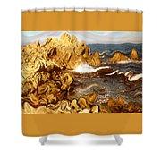 Wild California Coast - Modern Art Shower Curtain