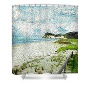 Wild Coastline Shower Curtain