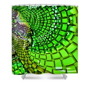 Wild Curves Abstract Shower Curtain