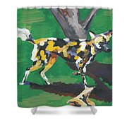 Wild Dogs Shower Curtain