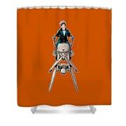 Wild Endor Aka Johnny Strabler On A Speeder Bike Shower Curtain