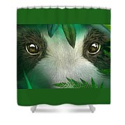 Wild Eyes - Giant Panda Shower Curtain