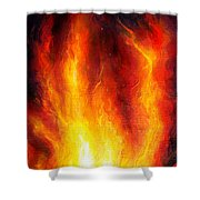 Wild Fire 04 Shower Curtain