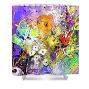 Wild Flowers Bouquet 02 Shower Curtain